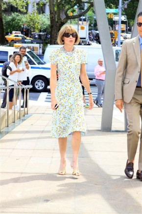 Anna Wintour NYC FAshion Week Spring 2015
