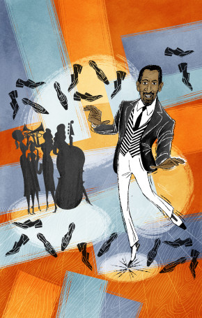 Maurice Hines is Tappin' Thru Life runs November 15–December 29, 2013 at Arena Stage at the Mead Center for American Theater. Illustration by Ed Fotheringham
