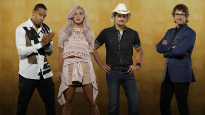 The cast of Rising Star: Ludacris, Kesha, Brad Paisley and Josh Groban